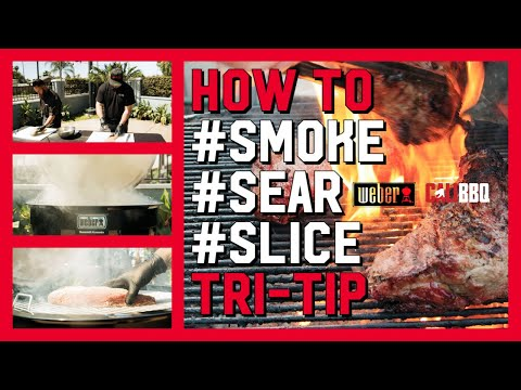 Smoked and seared tri-tip on a weber summit kamado e6 grill | how to bbq
