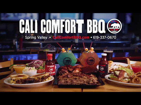 San diego's slow smoked bbq & sports entertainment destination - cali comfort bbq