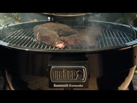 Weber x cali comfort bbq in san diego, ca grilling tri-tips on the summit kamado
