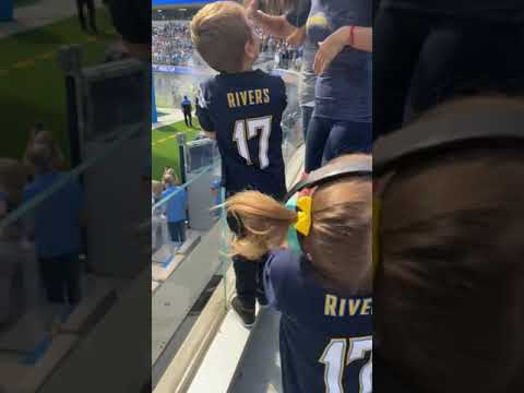 Chargers kids and fam⚡️ly at sofi stadium in los angeles | #shorts