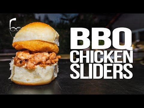 The best bbq chicken sliders | sam the cooking guy