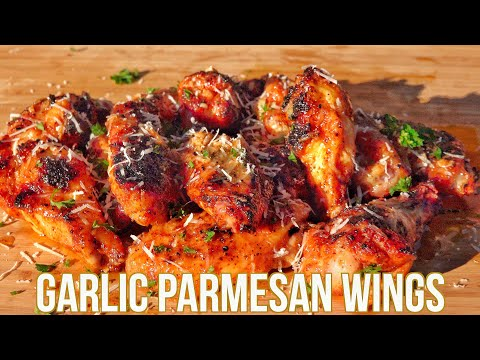 How to grill crispy chicken wings   garlic parmesan wings   pk grill