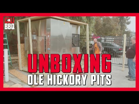 Unboxing new ole hickory pits commercial smoker at cali bbq