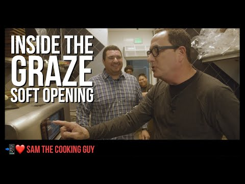 Inside the soft opening of graze | sam the cooking guy (dh 023)