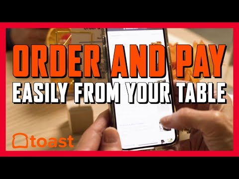 Toast order and pay makes cell phone ordering at the table easier