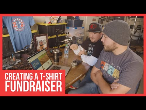 Creating a t-shirt fundraiser for jake's projects on tzilla