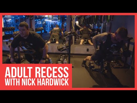 Adult recess with nick hardwick at renegade fitcamp in san diego