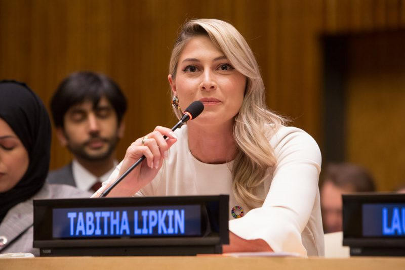 Tabitha Lipkin speaks at Sports For SDG's at the United Nations