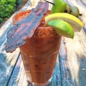 Candied Bacon Bloody Mary at Cali BBQ