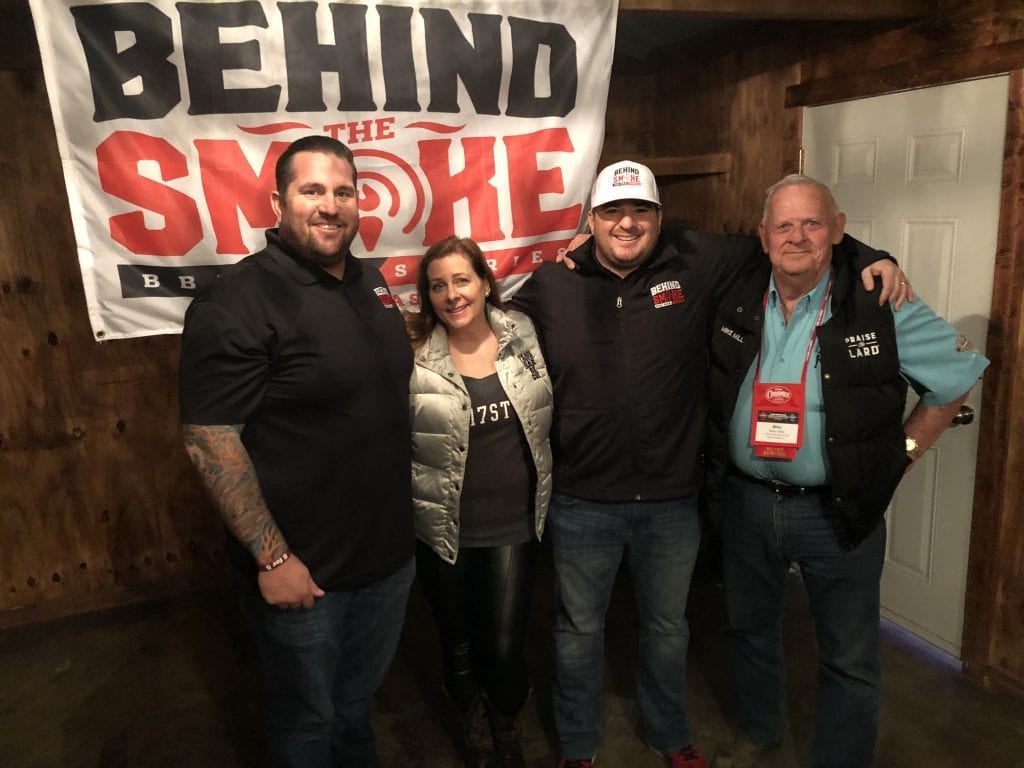 Amy mills and mike mills at #iambbq2018 with behind the smoke podcast
