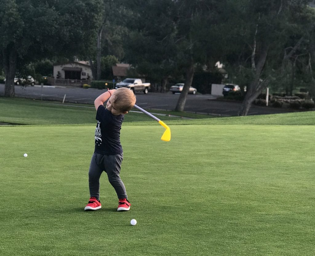 Kalin walchef learning to play golf at welk resort in escondido 1024x833