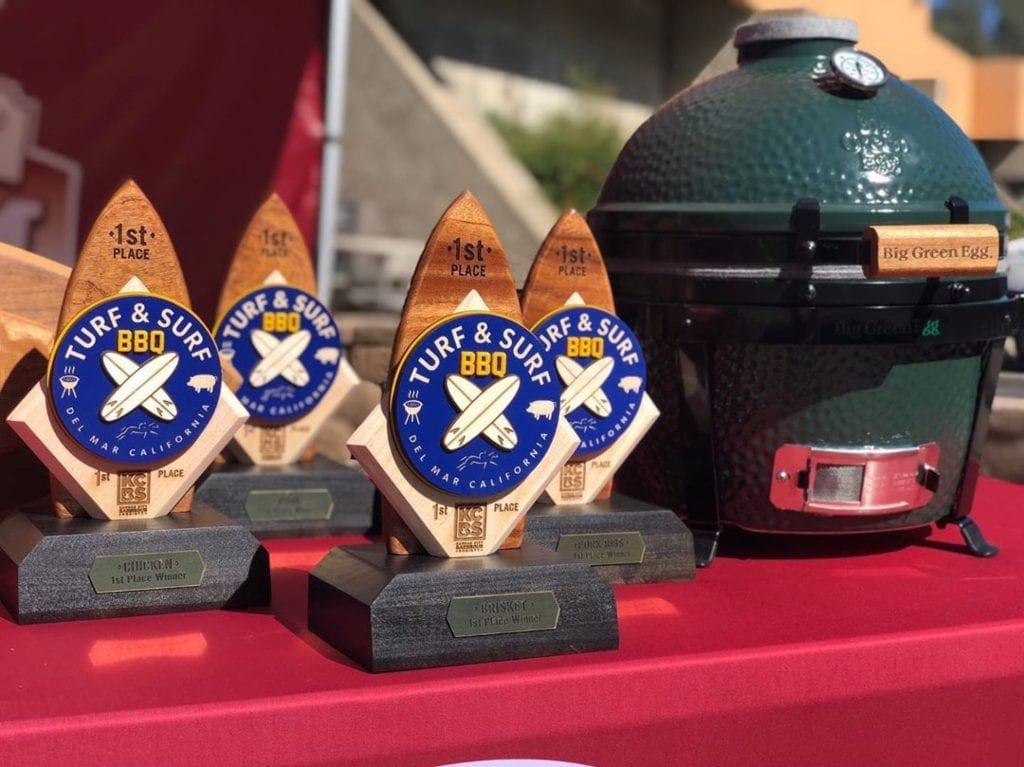 #BETonBBQ Award Trophies and Big Green Egg