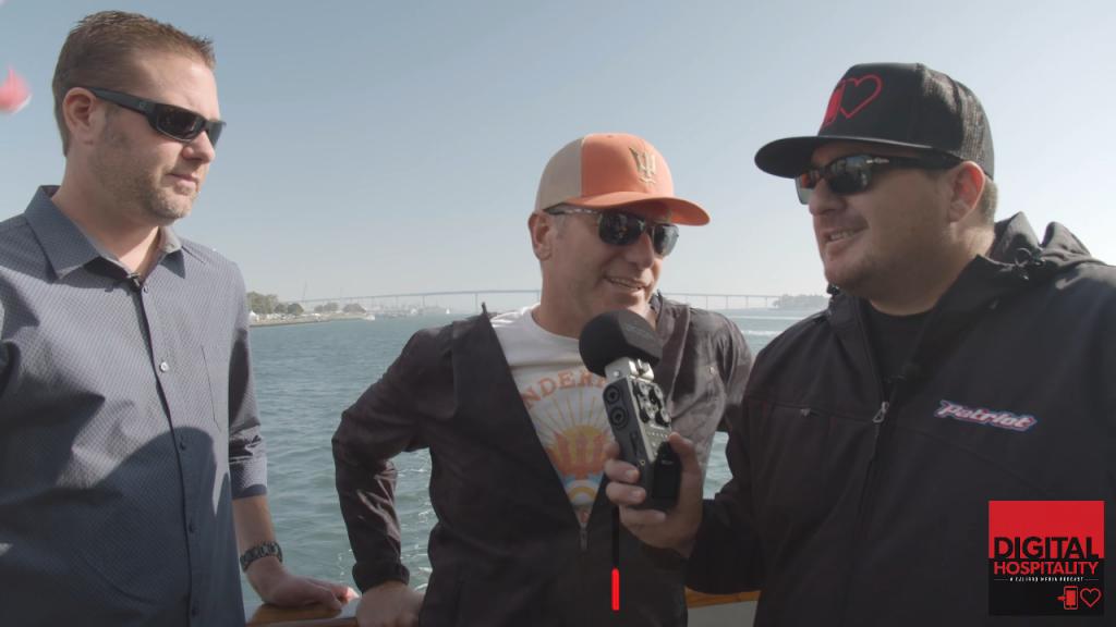 Ernie Hahn and Brad Engel on the Wonderfront Tour with Shawn Walchef