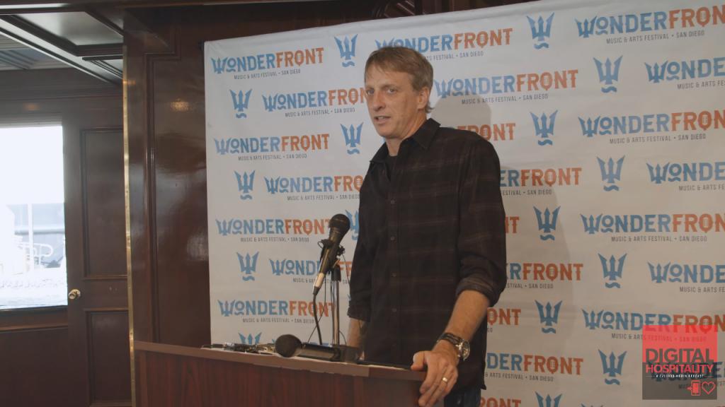 Tony Hawk talks about Wonderfront Festival