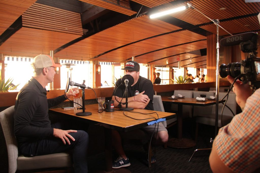 Recording the Digital Hospitality Podcast with Ernie Hahn