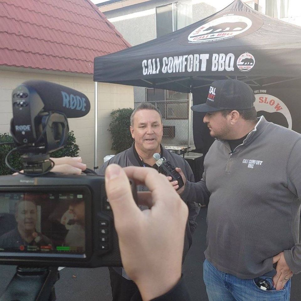Shawn walchef interviews tommy sablan for his cali bbq media podcast