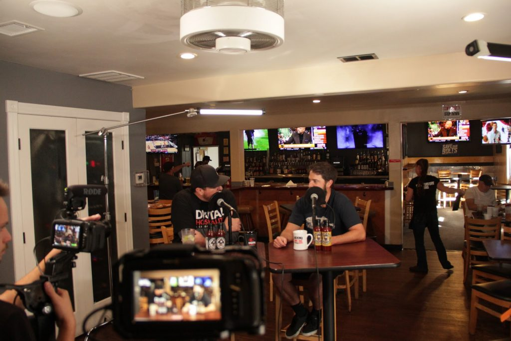 Recording the Digital Hospitality podcast inside Cali Comfort BBQ in Spring Valley