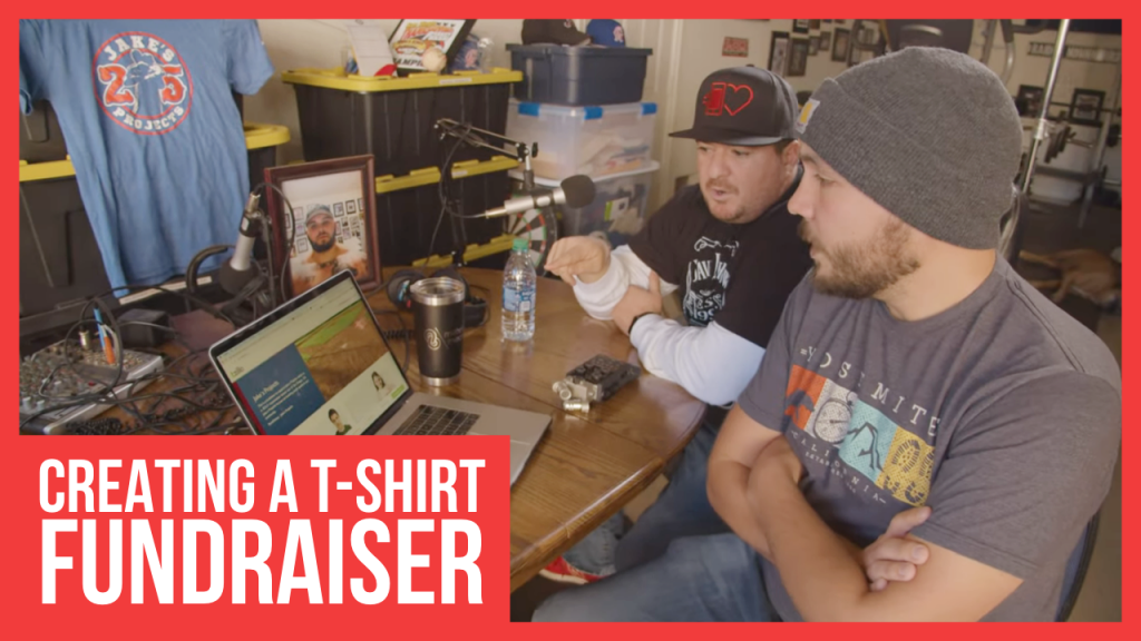 Creating a Shirt Fundraiser for Jake's Projects on Tzilla