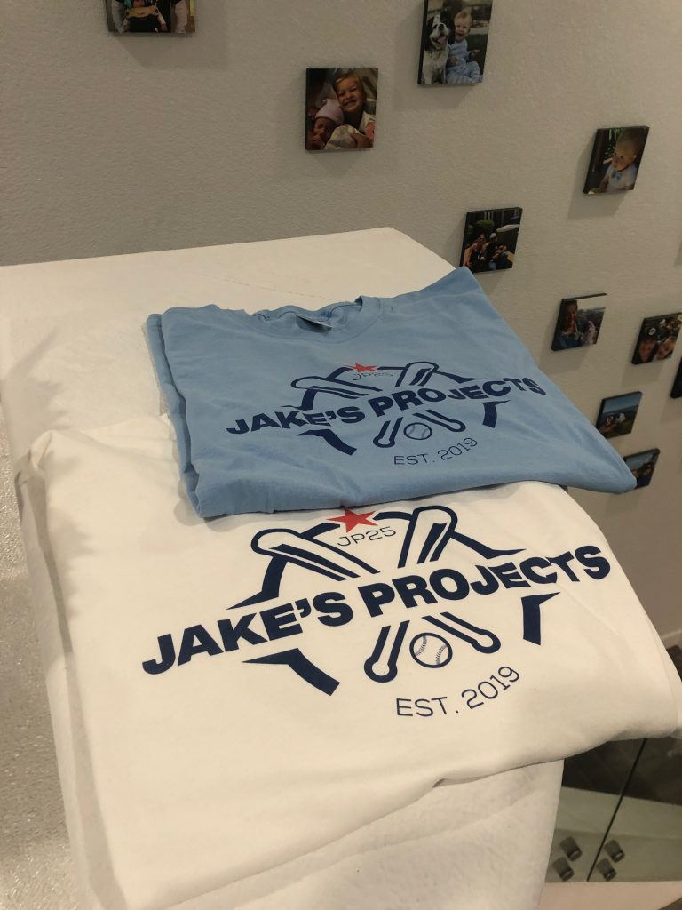 Jake's Projects shirts ordered on Tzilla