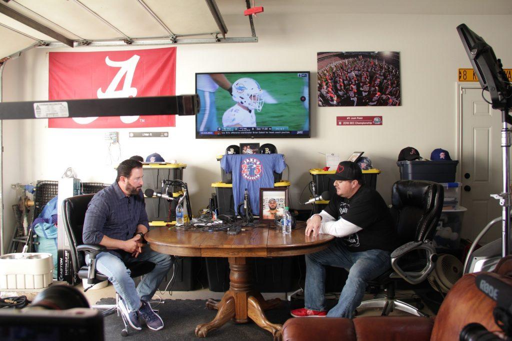 Shawn Walchef interviews Dave Palet in Dave's garage