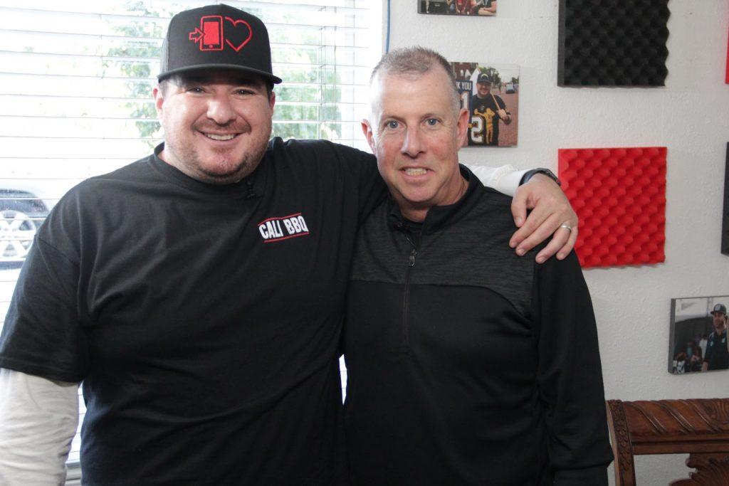 Scott yoffe and shawn walchef at cali bbq media