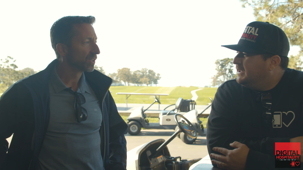 Shawn Walchef talks to Marty Gorsich at Torrey Pines
