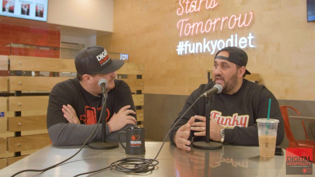 Shawn Walchef interviews Sebastian Hallak at Funky Fries and Burgers