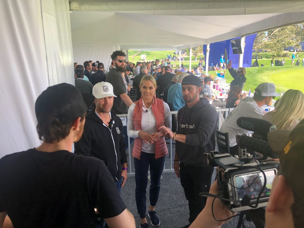 Jeff Fenster helps record Digital Hospitality at the 2020 Farmers Insurance Open with Cali BBQ Media