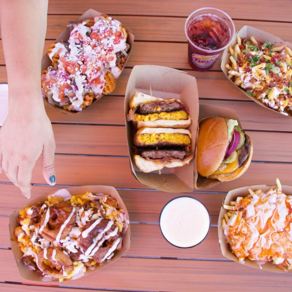 The Funky Fries menu is diverse and tasty