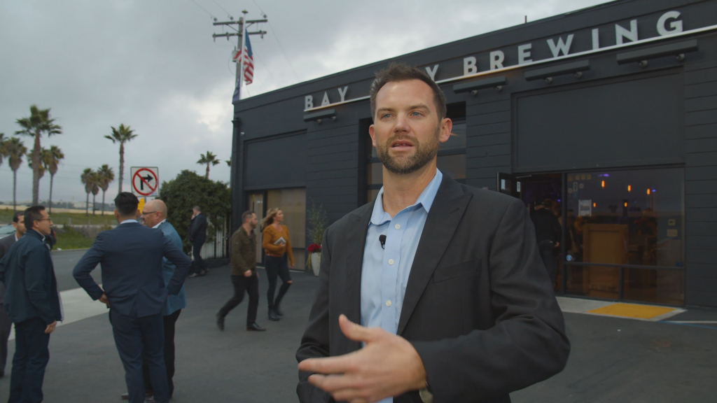 Luke Gilbert and Seals Front Office Staff at Bay City Brewing in 2019