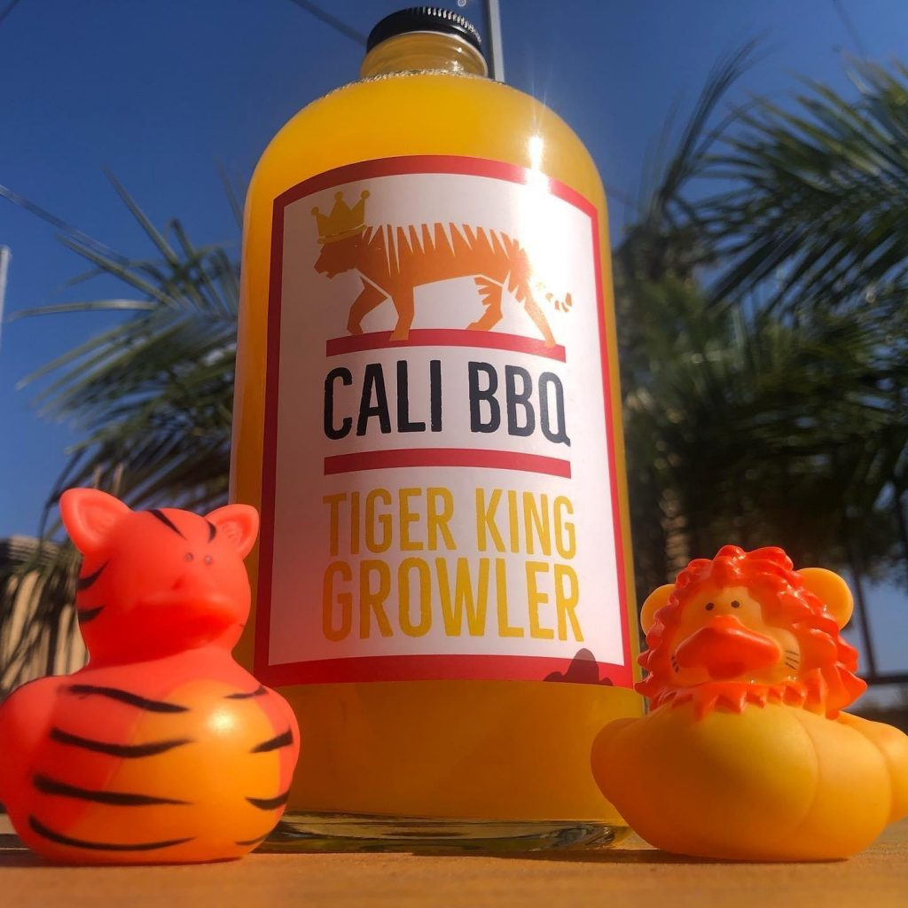 Tiger king drink at cali bbq
