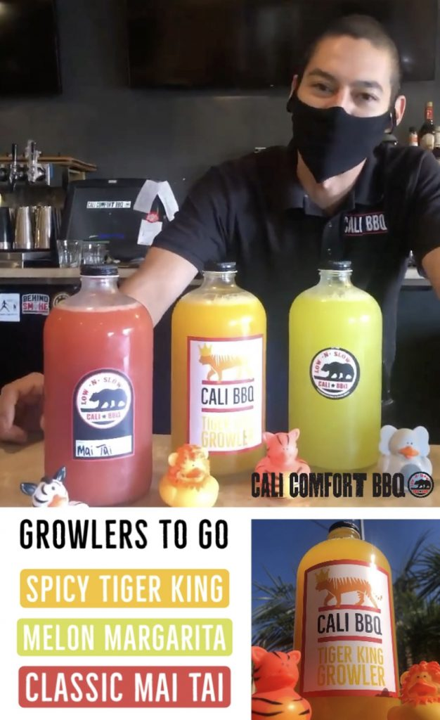 Drinks to go at cali comfort bbq