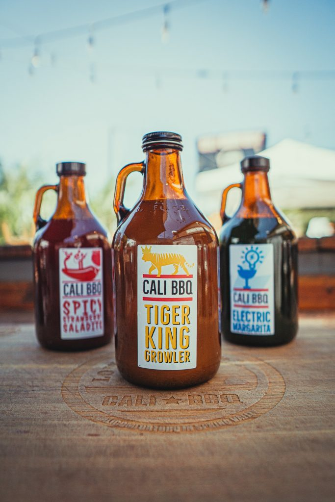 Growler cocktails for takeout at cali comfort bbq