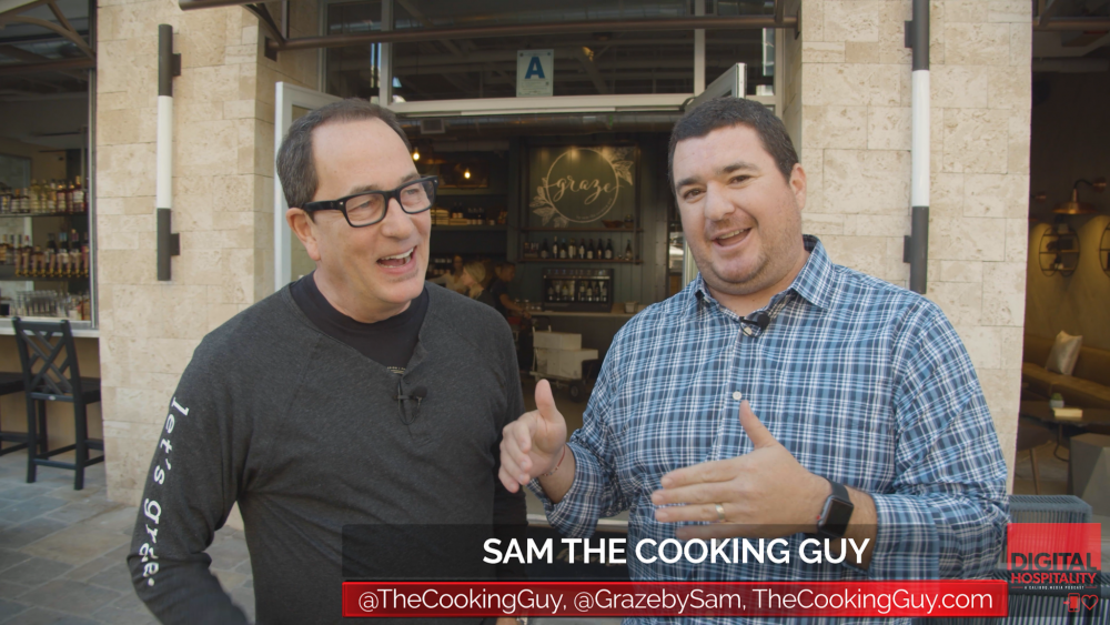 Sam the cooking guy interview outside graze san diego
