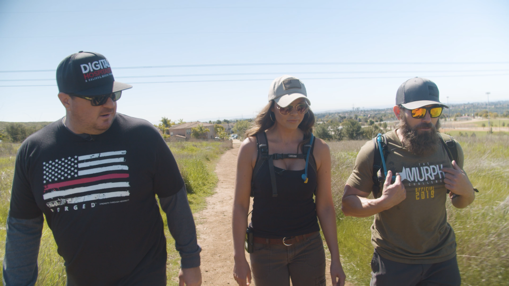 Samantha Bonilla, Michael Sauers, and Shawn Walchef go on a hike in San Diego