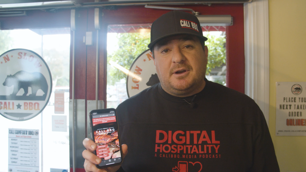 The future of restaurants is online ordering and digital media like at cali bbq