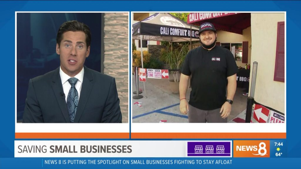 Eric kahnert interviews shawn walchef on cbs 8 in may 2020