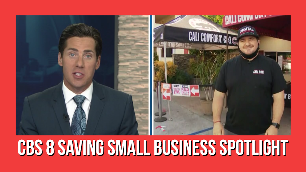 CBS 8 Saving Small Business Shawn Walchef Cali BBQ