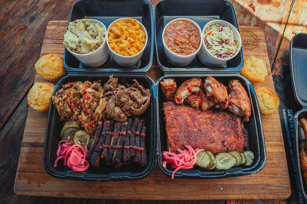The tailgater family meal to go from cali bbq
