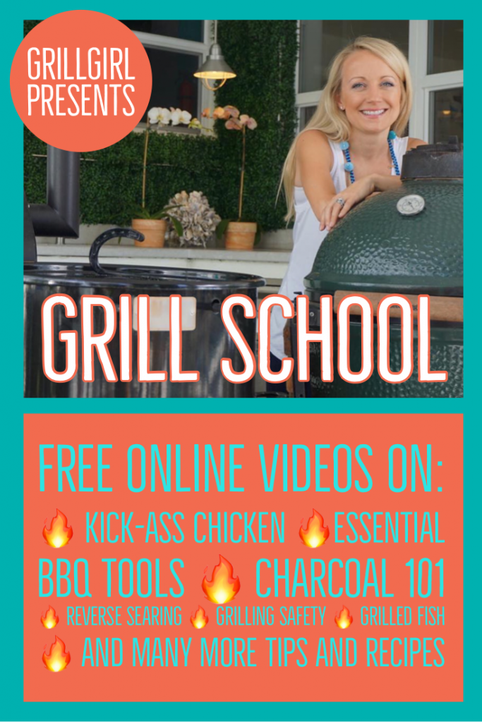 Grillgirl's free grill school on youtube
