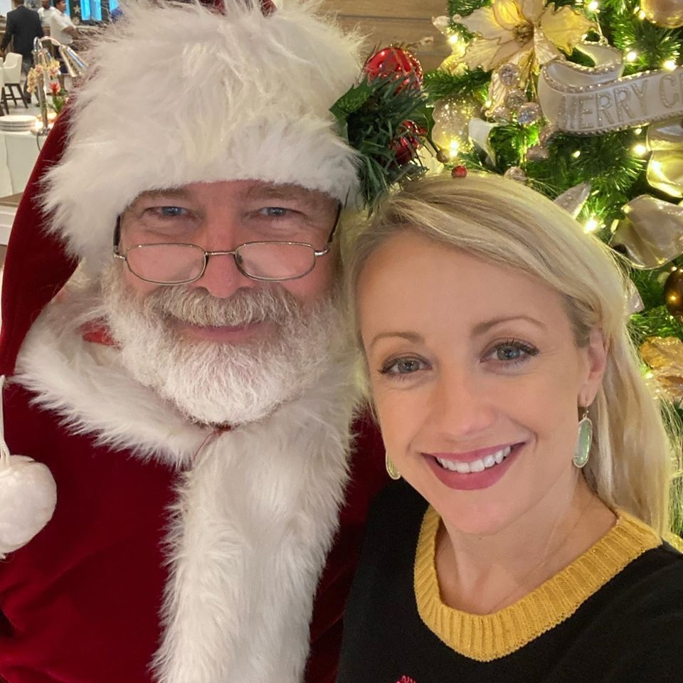 Grillgirl christmas with santa
