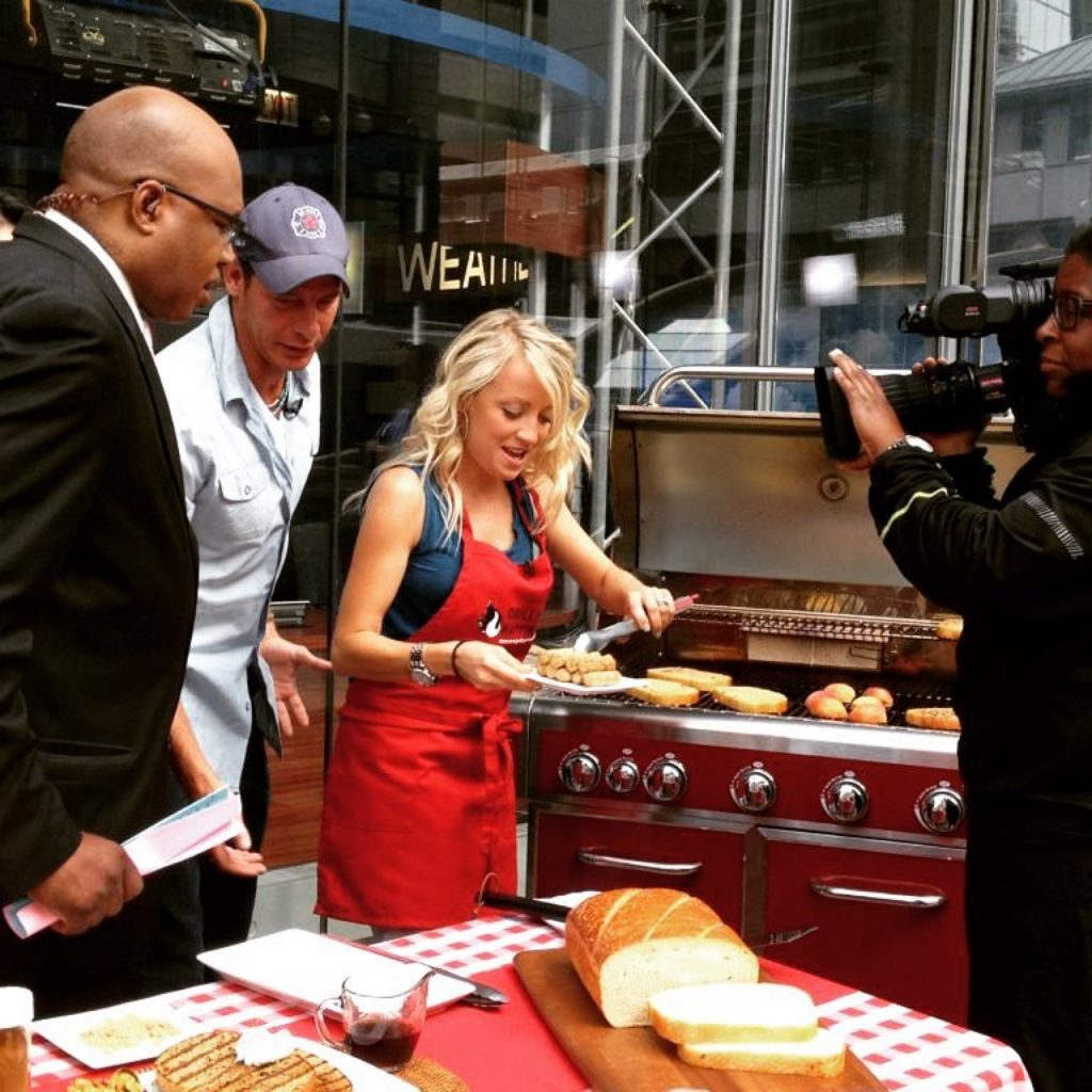 Grillgirl robyn cooking on today show in new york