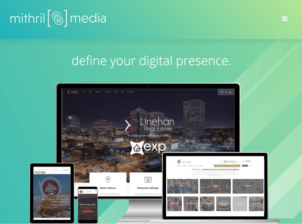 Mithril media website screenshot
