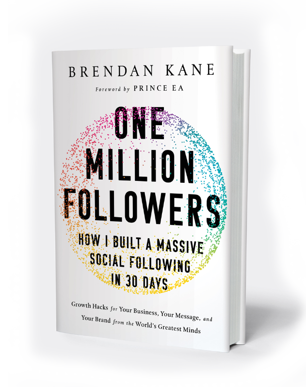 One Million Followers Book Cover Brendan Kane