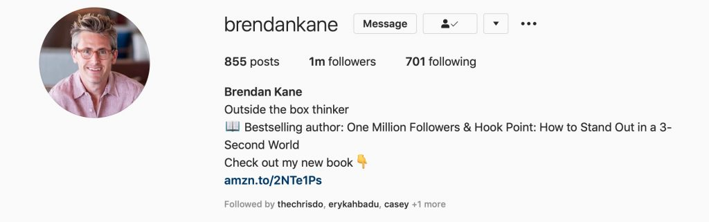Brendan kane instagram page