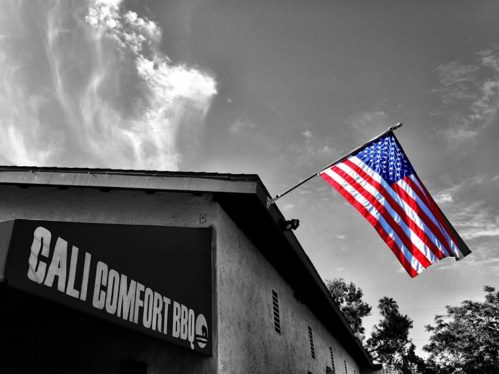 Cali bbq american flag