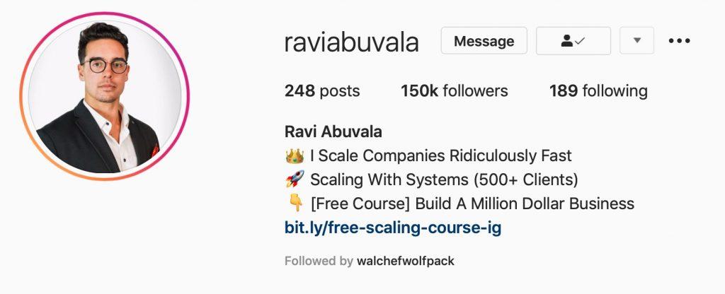 Raviabuvala Instagram Profile