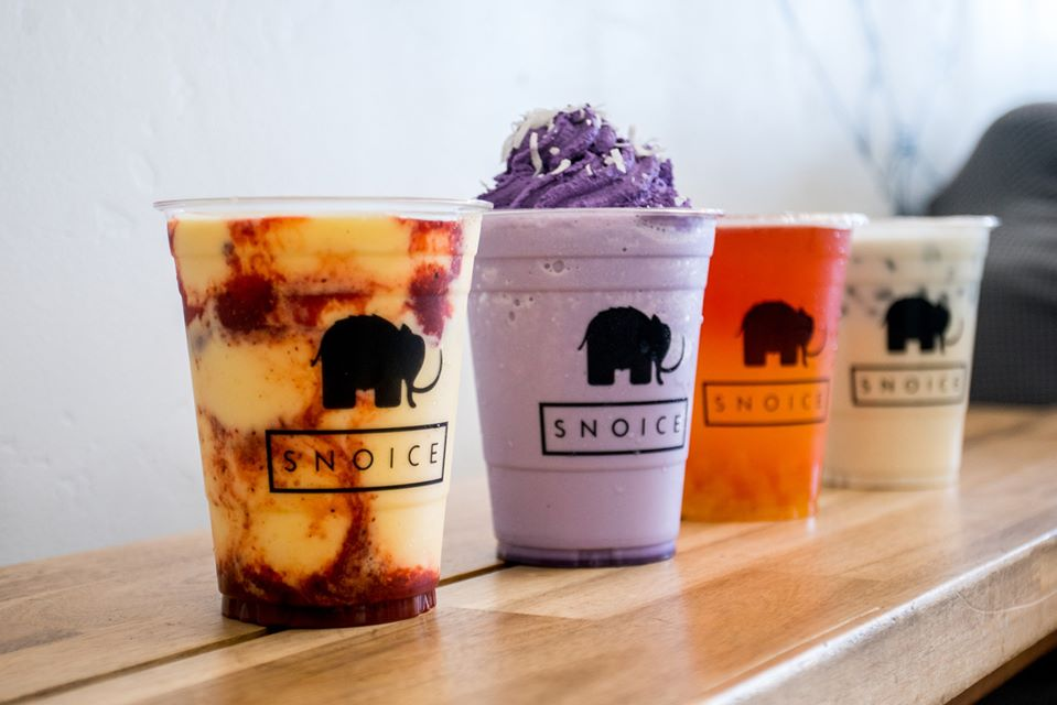 Snoice menu items 2020