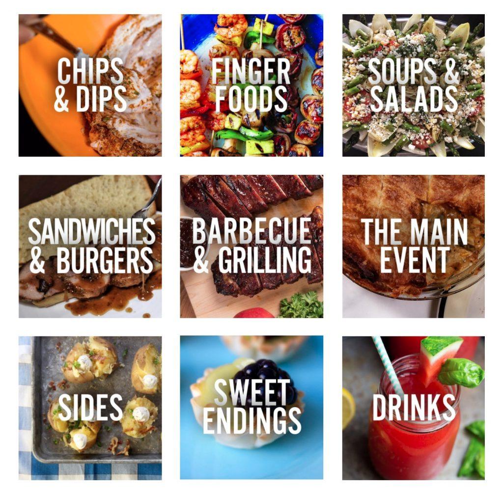 Hungry fan recipe categories