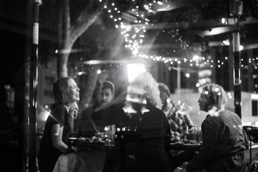 Preux and proper restaurant photo black and white